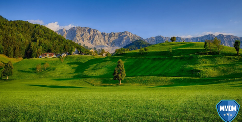 Spring Cleaning - landscape photo of green fields and mountains