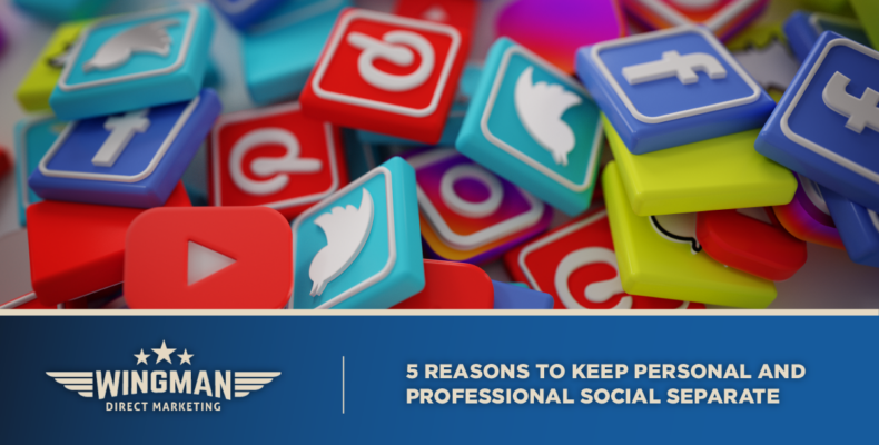 Personal and professional social media separate