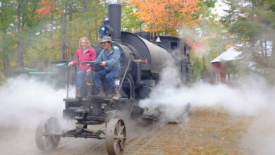 Photo of Episode 064 features Sherry Davis with the Maine Forest and Logging Museum
