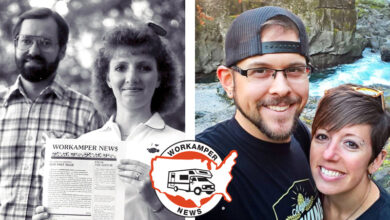 Photo of Episode 100 provides recap of Workamper News' 33-year history with Jody and Luke Duquette