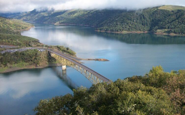 Image of the U.S. Army Corps of Engineers project at Lake Sonoma, Calif.