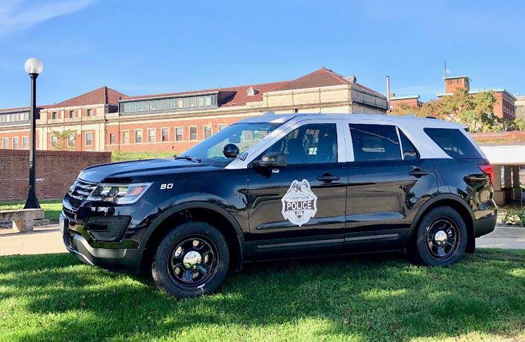 Police Car In Yard