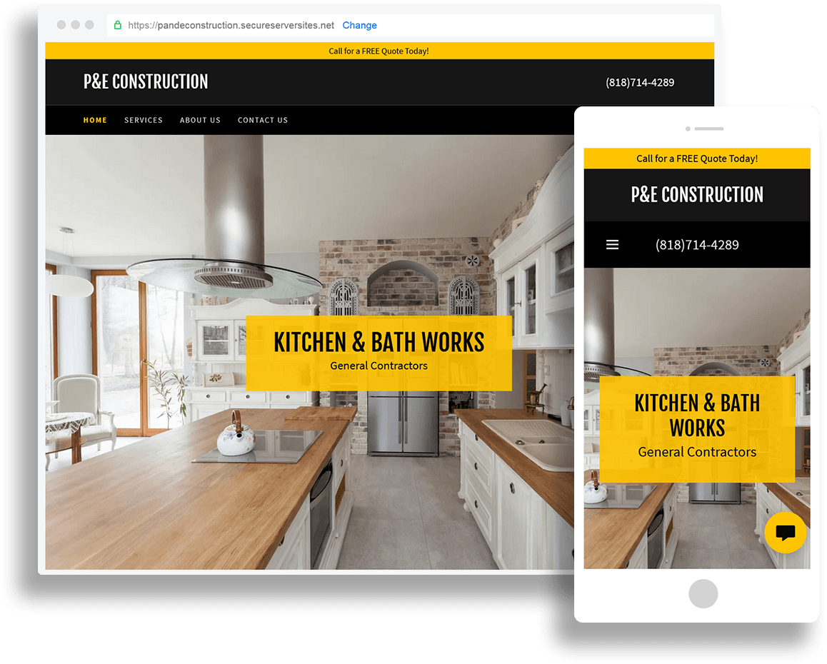 Websites for General Contractors and Service Based Buisinesses
