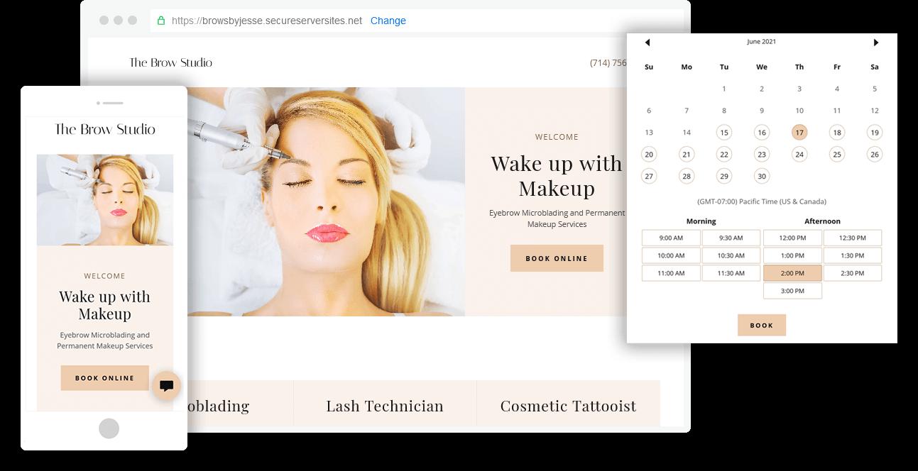 Microblading Websites, Salon Websites, Permanent Makeup Websites