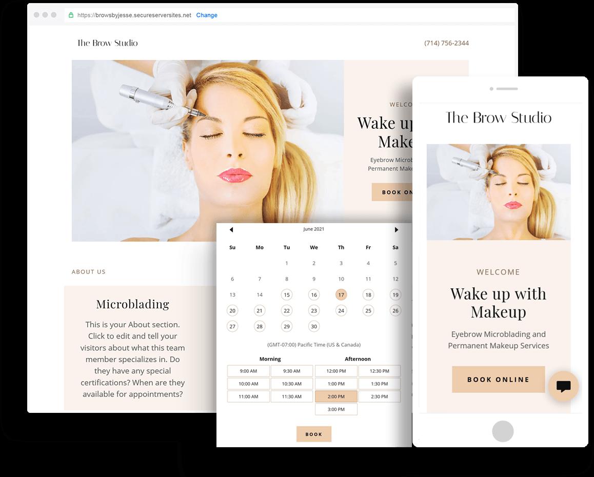 Salon  and Permanent Makeup Websites