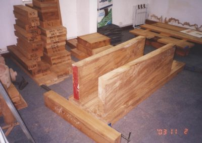 Teak for cannon carriages