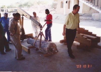 Puttting a gun onto a replica carriage