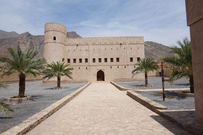 The courtyard and castle at Bayt Ar Rudaydah