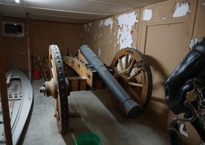 Cannon with restored muzzle