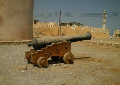 Garrrison gun at Barka