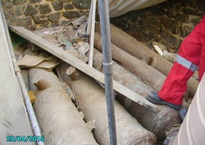 Neglected cannon awaiting conservation
