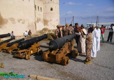 Replica carriages at Barka