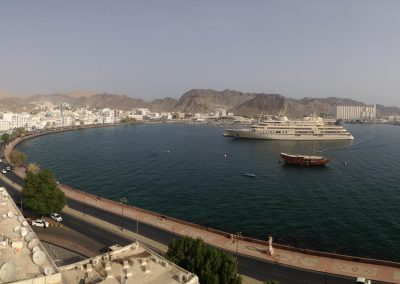 The sea from Mutrah Castle