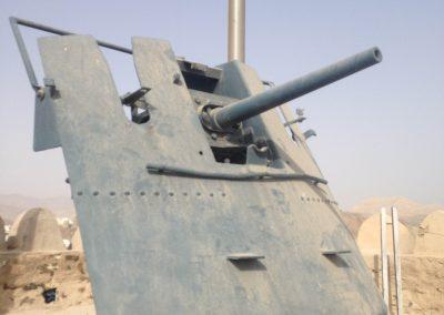 Gun at Mutrah before restoration