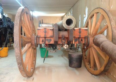 6 pdr cannon carriage