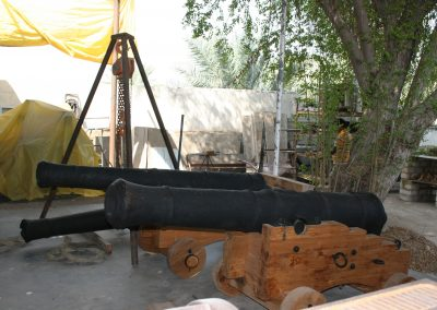 Cannon being assembled