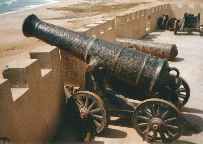 Guns at Mirbat on wrong repro carriages