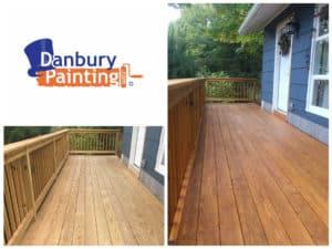 deck staining danbury ct