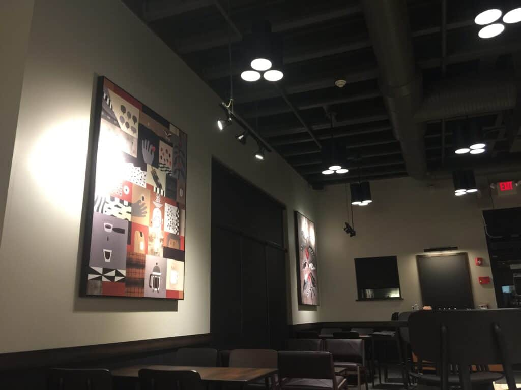 Starbucks Military Store in Newburgh NY painted by Danbury Painting