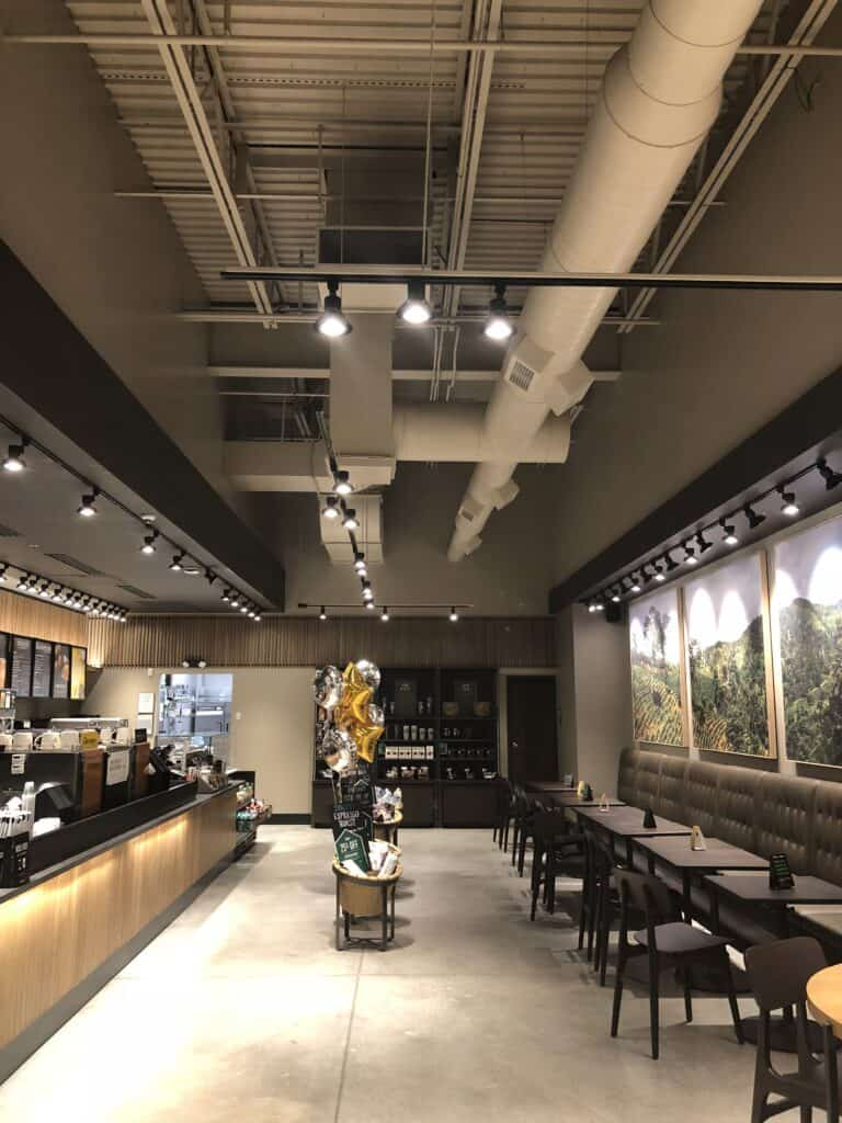 Starbucks Lancaster PA painted new construction by Danbury Painting