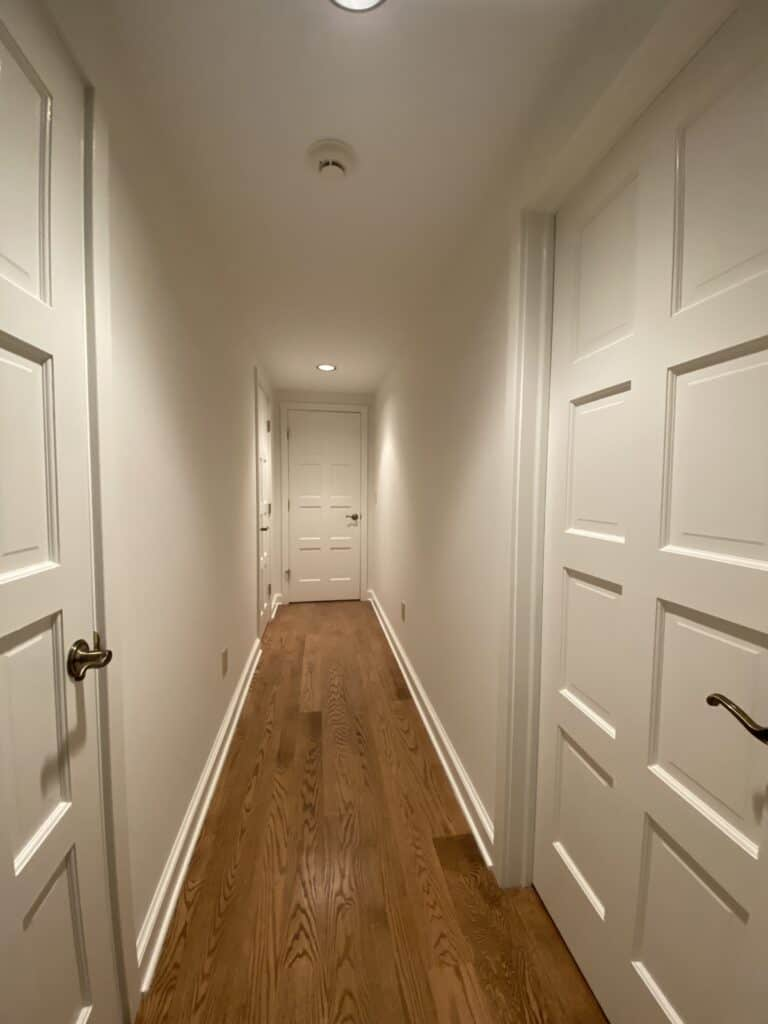Interior Painting of Hallway and doors and trim Brookfield, Ct