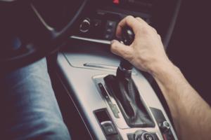 Gear shift of a car