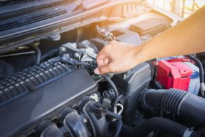Transmission maintenance on a car in Oak Park, Illinois