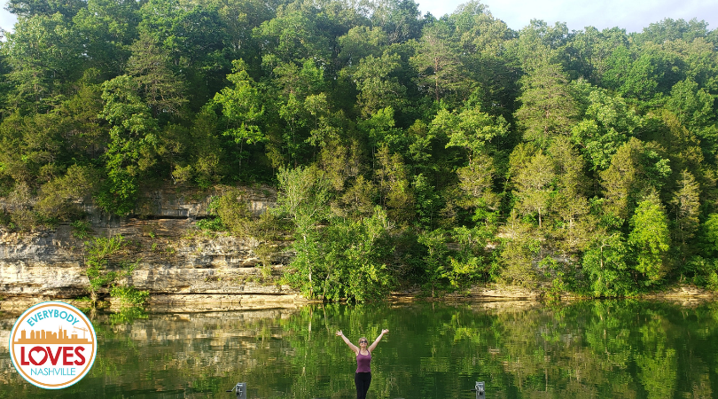 Caney Fork River in Rock Island Tennessee