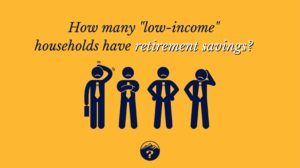"How many ""low-income"" households have retirement savings?"