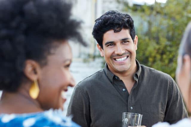 The Fenley Man Smiling Woman Socializing