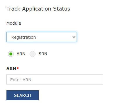 ARN Number in track application status
