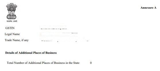 GST Reg 06 GST registration certificate