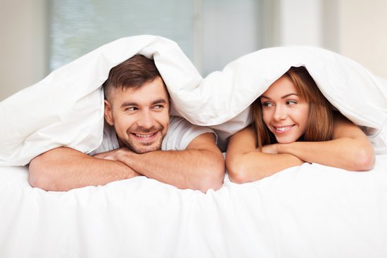 two people satisfied with their sexual health