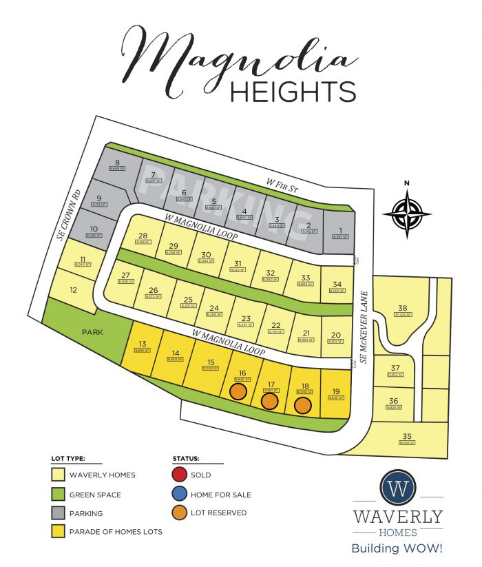 Magnolia heights site map