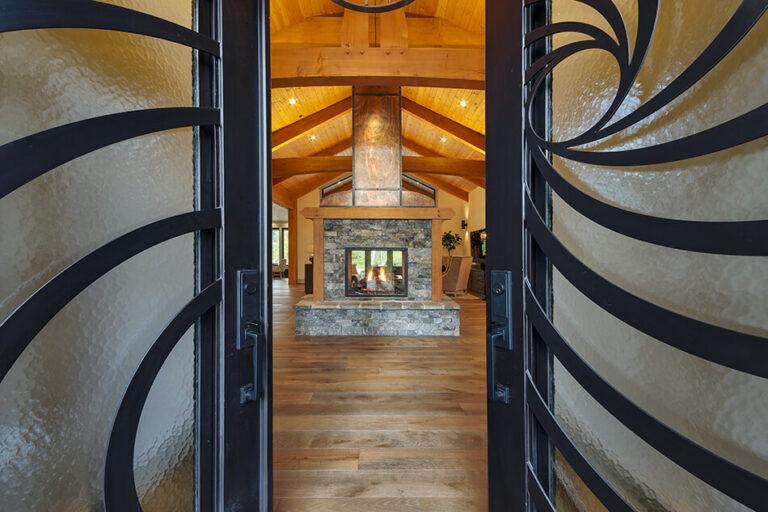 Timberline front doors open