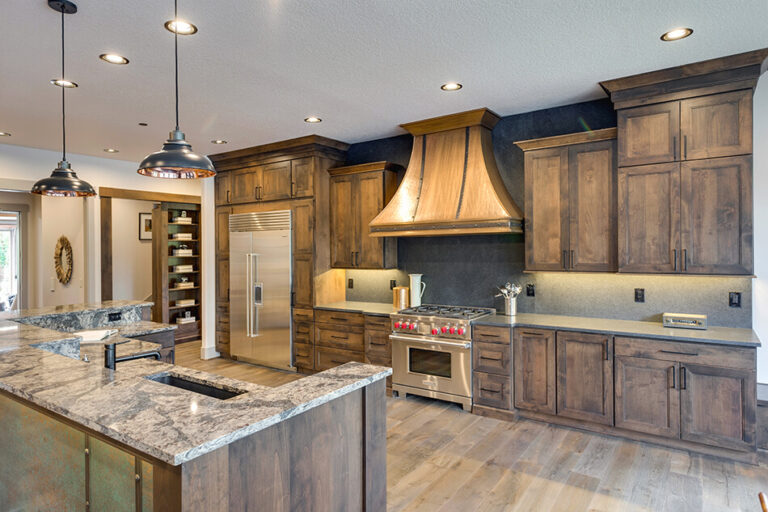Timberline kitchen with range hood