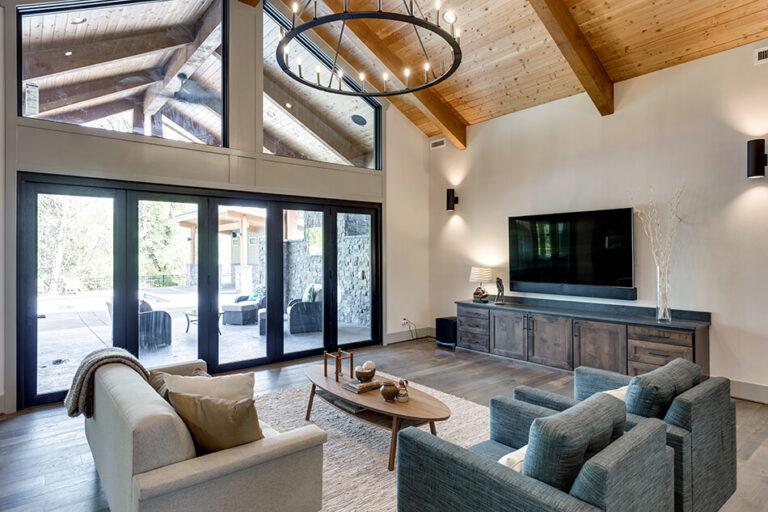 Timberline main living room with patio doors