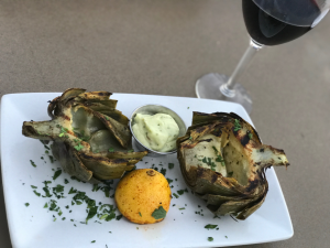 Grilled Artichoke from Bluewater Grill