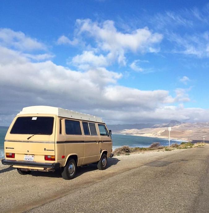 Van at El Capitan State Beach