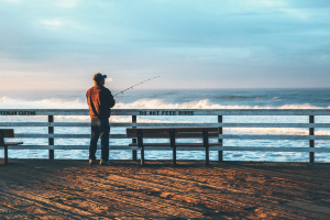 Fisherman at Pismo Beach Pier