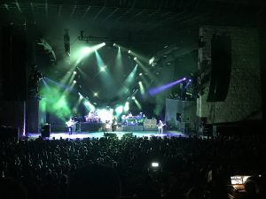 Concert at Santa Barbara Bowl at night