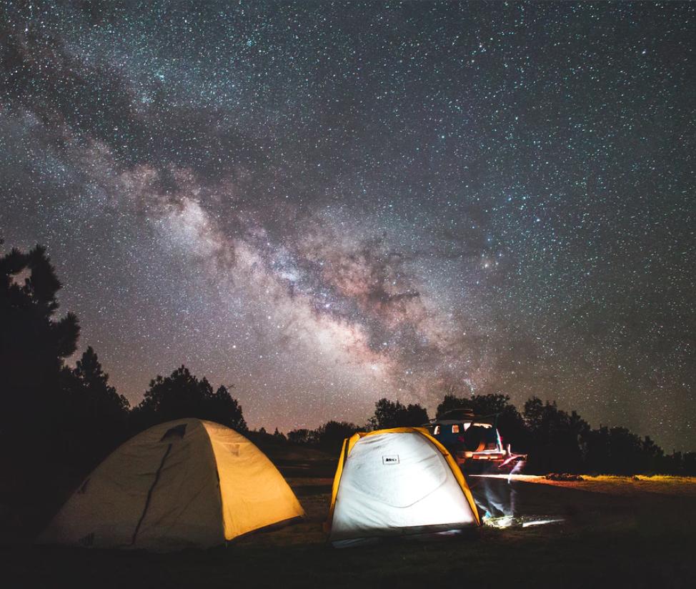Camping under the stars at Los Padres