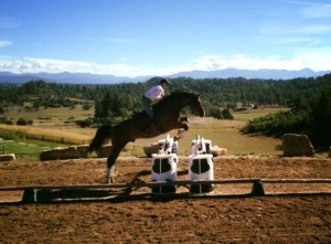 Jumping Linda Parelli's super horse Highland