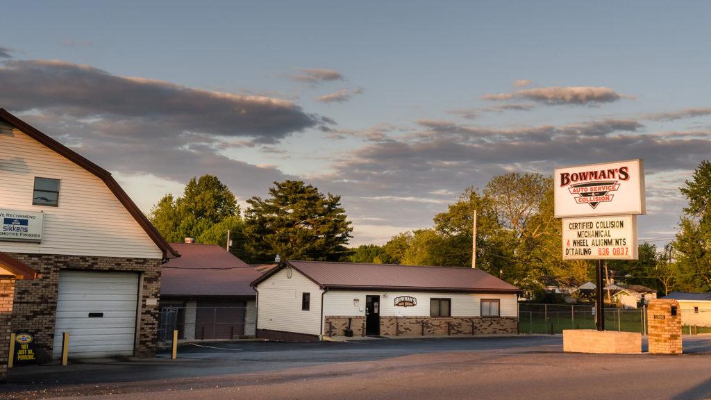 Bowman's Shop wide angle photograph