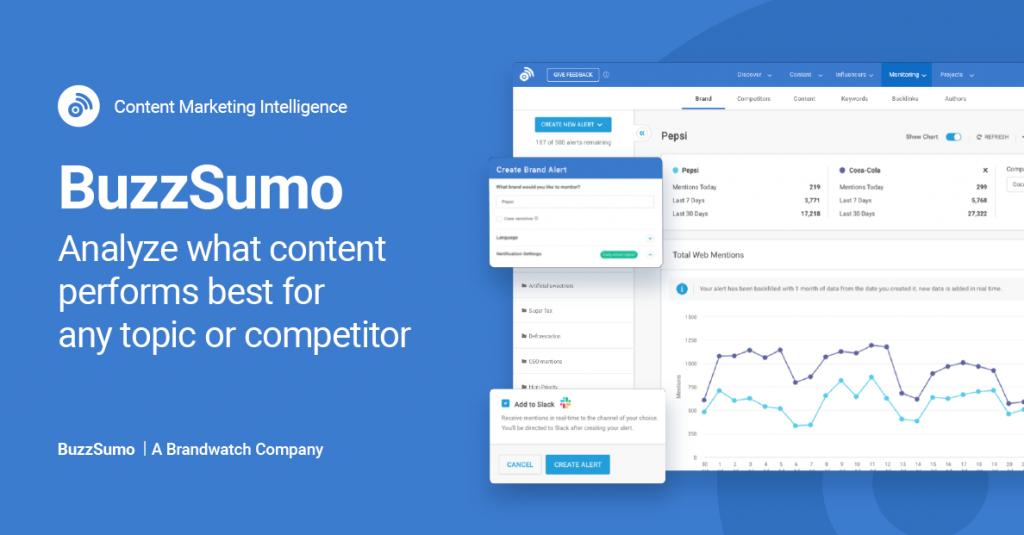 Buzzsumo social media marketing research tool