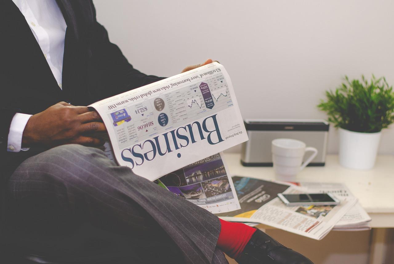 businessman, newspaper, business