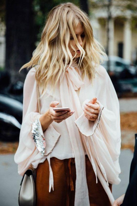 Rocker style pussy bow blouse | Girlfriend is Better