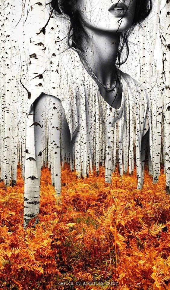 Double exposure design by Artist: Abdullah Erkeç   Girlfriend is Better