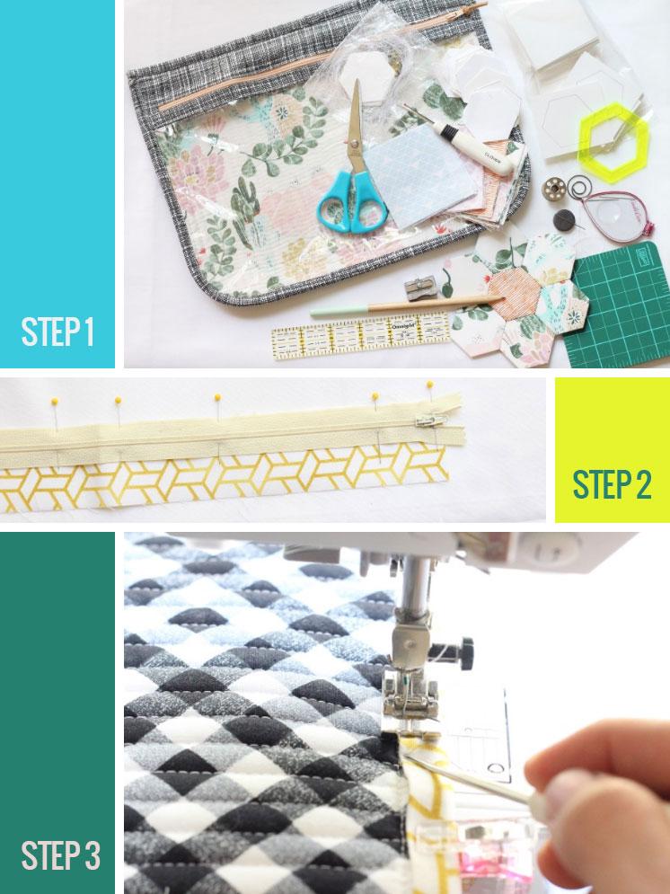 Zipper pouch DIY | Aynsley Campbell, Honymfin blog | Girlfriend is Better