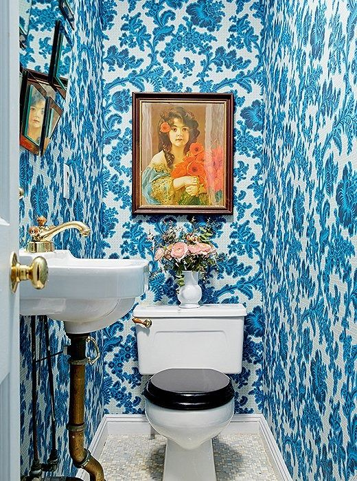 Vamp up a powder room with bold wallpaper   Girlfriend is Better